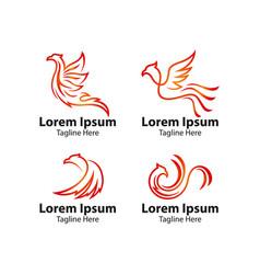Phoenix bird logo concept vector