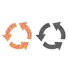 Pixel recycle mosaic icons vector