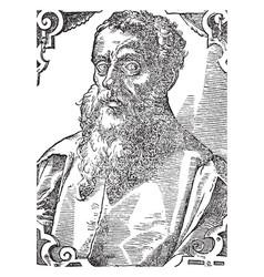 Ptolemy claudius ptolemaeus vintage vector