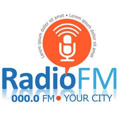 Radio fm symbol vector