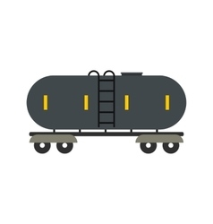 Railroad gasoline and oil tank flat icon vector