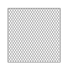 Realistic detailed 3d metal fence wire mesh vector