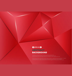 red pentagon pattern background vector image