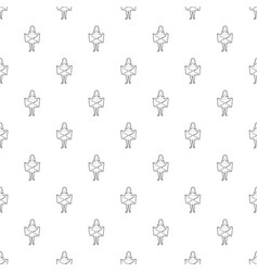 Riot of woman pattern seamless vector