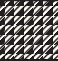seamless pattern black and white geometric design vector image