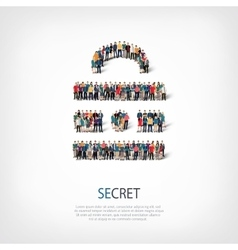 Secret people crowd vector