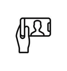 Selfie icon vector