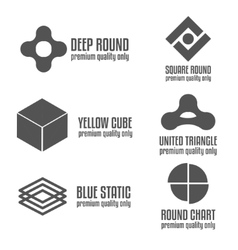 Set of abstract logo emblem label or logotype vector image