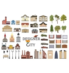Set of city infographics vector