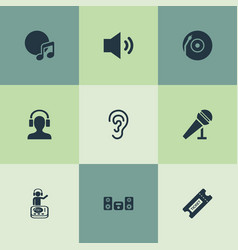Set of simple sound icons elements playboy vector