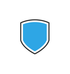 shield icon graphic design template vector image