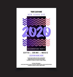 simple minimal new year poster template vector image