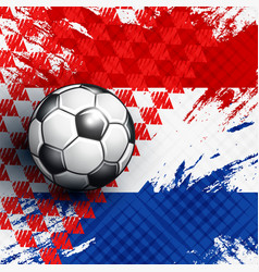 soccer ball on croatia flag abstract backgrounds vector image