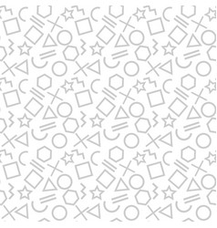 stylish seamless pattern of simple grey geometric vector image
