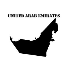 Symbol of isle of united arab emirates and map vector