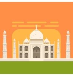 Taj Mahal White Burial Monument Famous vector
