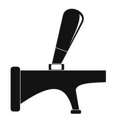 tap icon simple style vector image