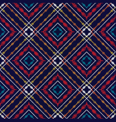 tapestry tartan seamless pattern geometric vector image