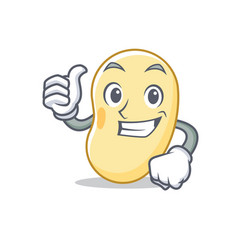 Thumbs up soy bean character cartoon vector