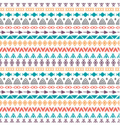 Tribal seamless pattern with doodle elements hand vector