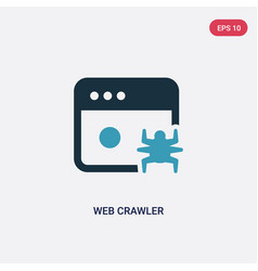 two color web crawler icon from user interface vector image