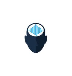 wave human head logo icon design vector image