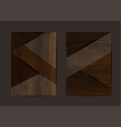 Wood texture background geometric cover business vector