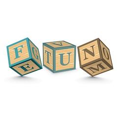 Word FUN written with alphabet blocks vector image