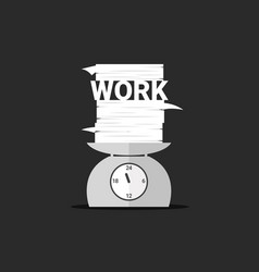 work and paper on day scales vector image