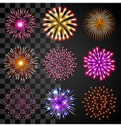 Fireworks icons set vector image