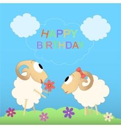 Happy birthday cute card vector image