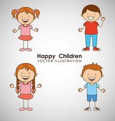 happy children design vector image