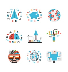 347business concept set vector image vector image
