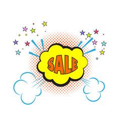 comic sale explosion pop art style vector image vector image