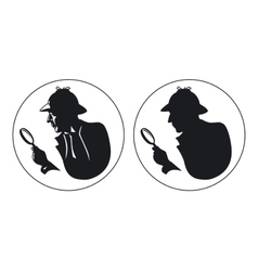 Detective silhouette vector image