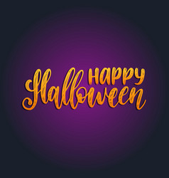 Happy halloween lettering for vector