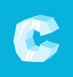 Letter c ice font icicles alphabet freeze vector