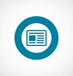 news icon bold blue circle border vector image