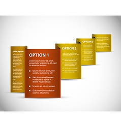 Set of Sample option paper origami vector image