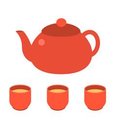 tea pot icon vector image