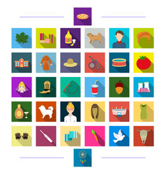 tourism business production and other web icon vector image vector image