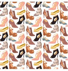 womens shoes flat design footwear shoe vector image vector image