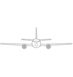 aeroplane front view vector image vector image