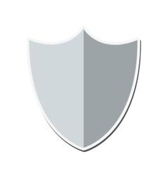 blank shield icon vector image