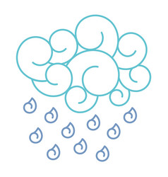 blue cloud rain drops atmosphere cartoon image vector image