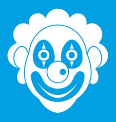 clown icon white vector image