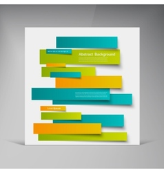 design Abstract lines brochure card vector image