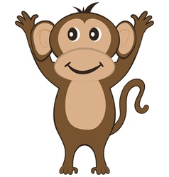 Funny Cartoon Monkey vector image vector image