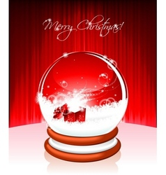 holiday on a christmas theme with snow globe again vector image vector image