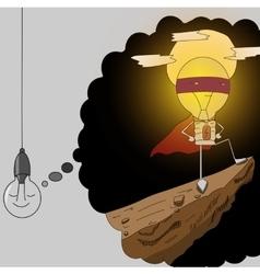 lamp superhero vector image vector image